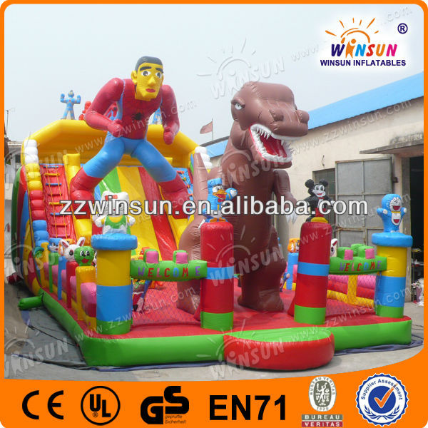 WSS-103 customized spiderman hire inflatable slide