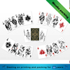 simple style Cheap custom print playing cards with glossy lamination