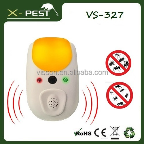 2016 Visson VS-327 X-pest Hoont indoor US / EU Pulg Electronic Ultrasonic Pest Cockroach Bug Insect Mosquito Repeller Killer