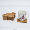 Multifunctional Bamboo Coasters Set, Bamboo Cup Mat with Storage Rack