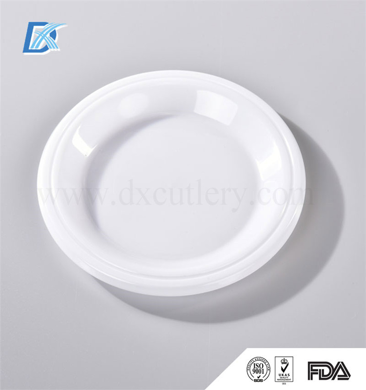 Plastic White PP Custom Print One Time Use Heated White Dinner Plates