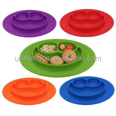 Custom Non-slip Silicone Baby Dinner Placemat Plate& Tray Kids Tableware /Silicone Food Tray Baby Food Plate Placemat