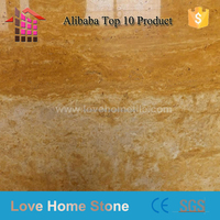 natural golden travertine home marble floor design