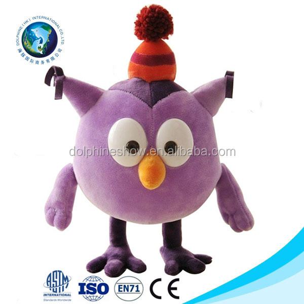 Christmas Pet Gift Wholesale Plush Cartoon Bird Dog Playing Toys