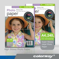 Colorway Best Price! 115g-260g A3, A4, 4X6, 5X7, 6X8 inch, Inkjet Waterproof Glossy Photo Paper