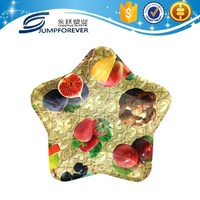 Eco-Friendly five-pointed star shape fruit plate