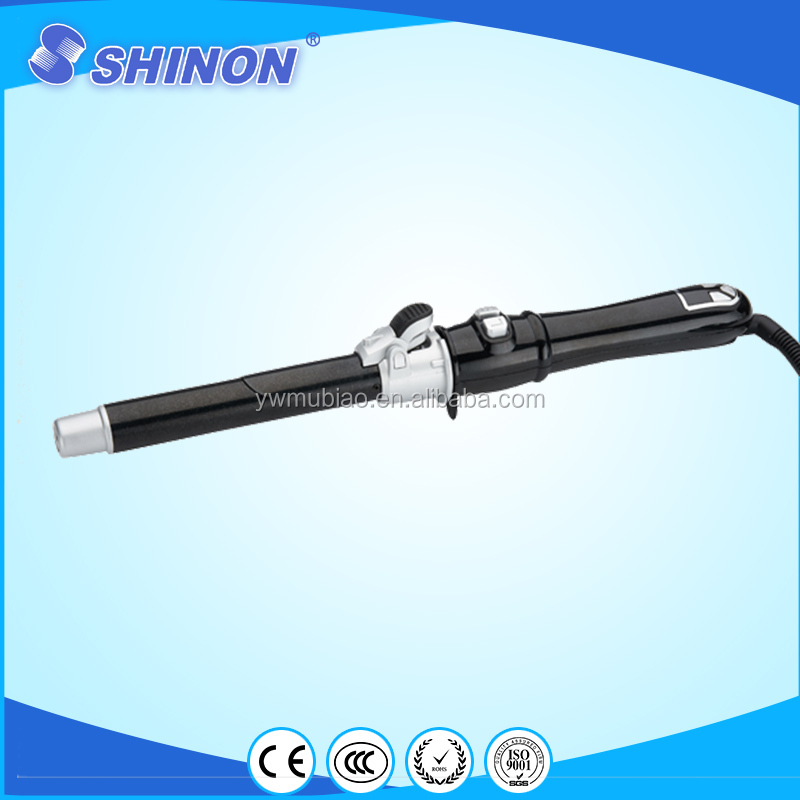 Shinon salon tools auto rotating hair curler LCD display hair curler for lady