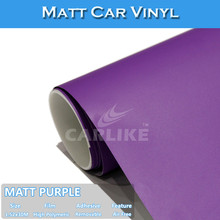 SINO 1.52x30M C9011 Matt Purple Color Change Film Car Foil Wrapping