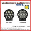 "6.5"" Cree 70W led work light, off road led driving lights, led work lamp 70w"