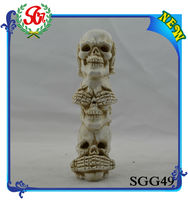 SGG49 Resin Skull Craft For Home Decorate