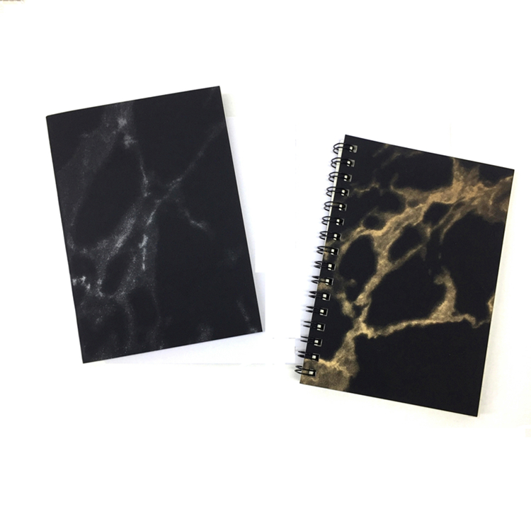 Wholesale Price Marble Printing Spiral A4 Notebooks With Blank Pages