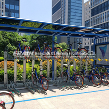 Double layer bicycle rack decker cycle parking