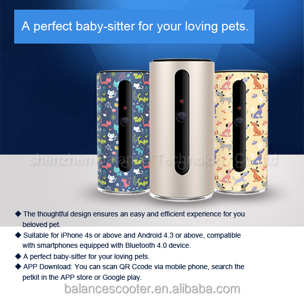 Waterproof colorful design 720p HD digital pet monitor pet mini camera