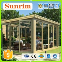 100% UV protection sun rain with aluminum frame sunroom in spanish