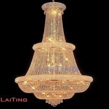 Modern unique light pure k9 crystal big hotel chandelier lamp