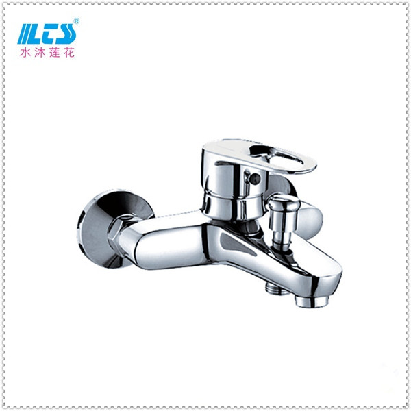 Single lever brass bath tub upc shower faucet wall mounted