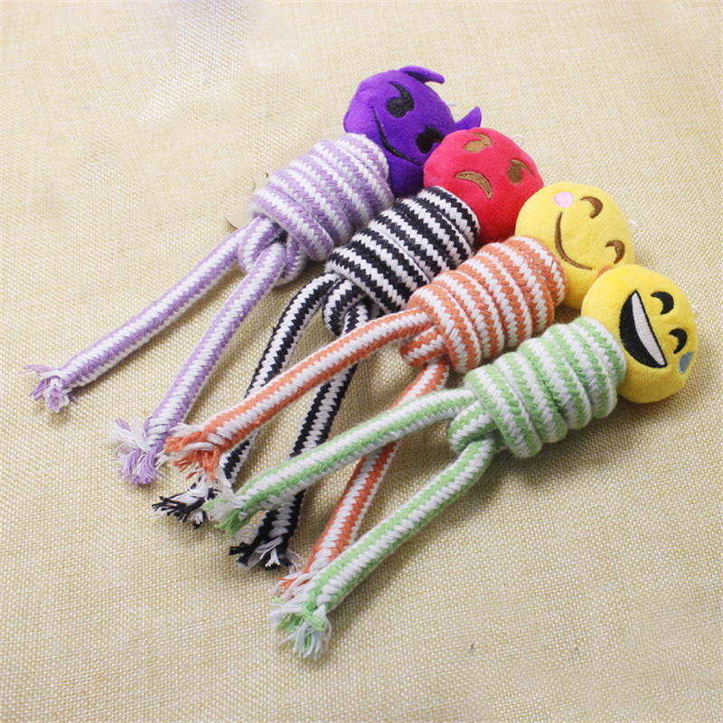 Dog Accessories Cotton Rope Knotted Pet Dog Toy Wholesale