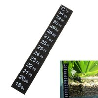 Fish Tank Aquarium Submerging Adhesive Thermostat LCD Thermometer Temperature Sticker