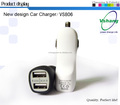 2016 Car Dual USB Charger 2.1A frosted Mini Car charger