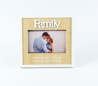 Custom family lover picture frame of wooden deco baby photo picture frame