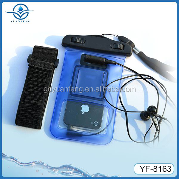 Cell phone waterproof bag for 4.3-4.5inches Mobile waterproof case with arm belt wholesale