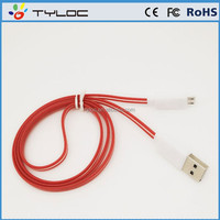Alibaba wholesale usb lighting cable,micro usb cable with led light