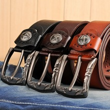 Handmade Band 110cm leisure young boy jeans leather belt students personality belt