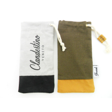 hot sale cotton drawstring glasses bag felt soft pouch sunglasses case