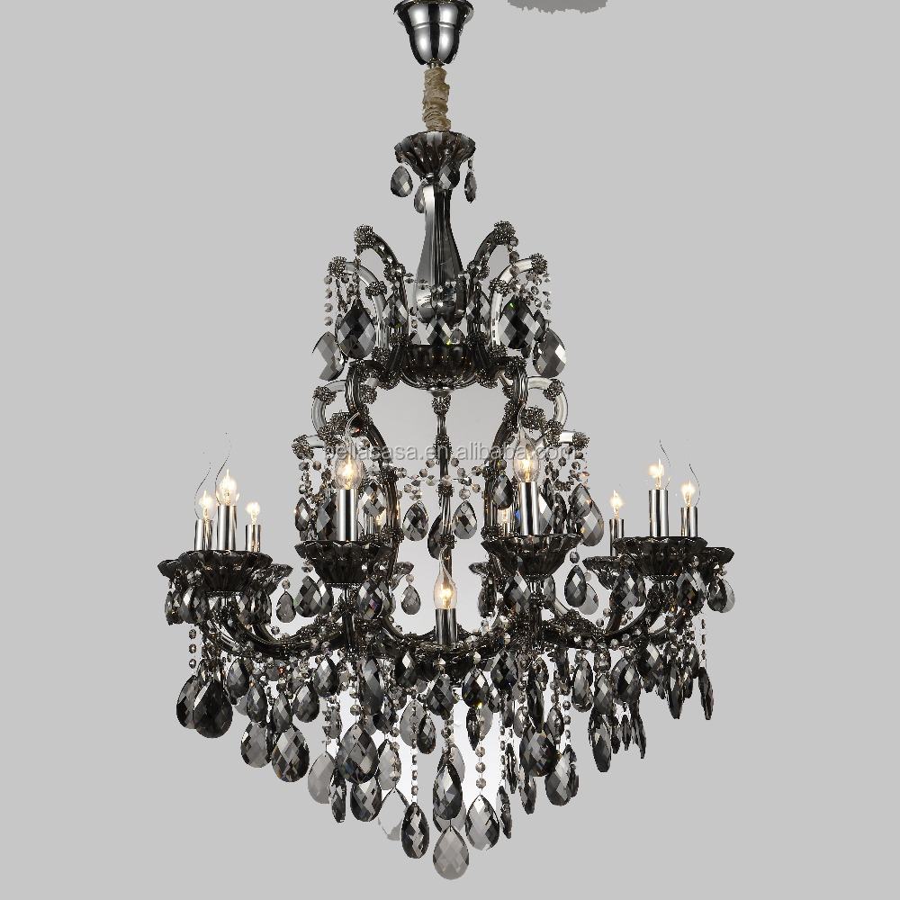 Black High Quality Chandelier 11 Lamps Classical Crystal Lighting