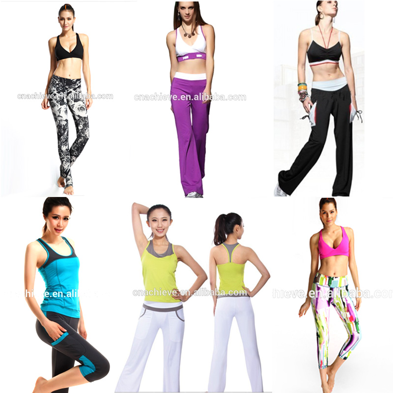 high quality polyester spandex dye sublimation women high waist yoga pants