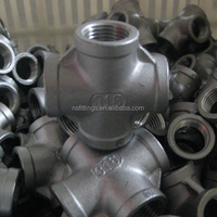 304L 316L stainless steel threaded 150 LBS casting pipe fittings cross