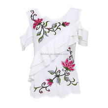 Item jc059-1 Summer Ladies simple fashion Embroidered flowers China dress women causal dresses