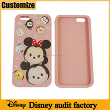 Disney audited factory super cute 3D micky custom universal silicone phone case