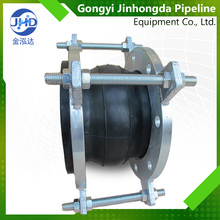 Single expansion joint limited rod flexible rubber carbon steel flange vulcanized