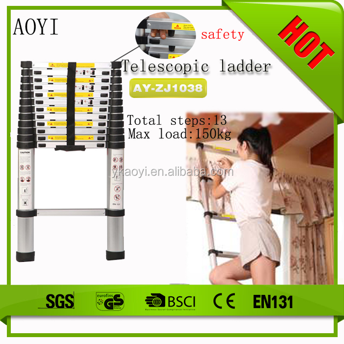 Super ladder on ebay 6063 t5 aluminum telescopic ladder telescope price