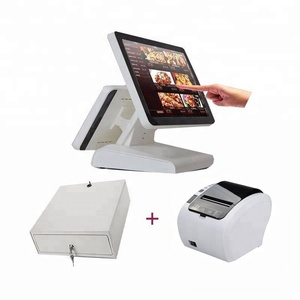 pos computer/ cash register with 80mm pos printer cash drawer for retail pos system