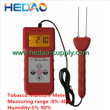 Electrical Resistance Method Cotton Tobacco Paper Digital Wood Moisture Meter Tester