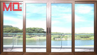 standard window size aluminium blind inside double glass windows with mosquito net