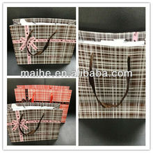 Large paper shopping bags with ribbon handles