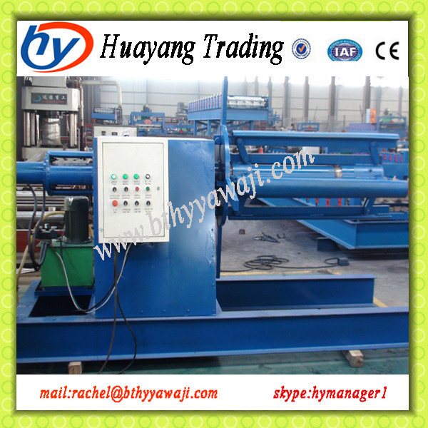 Huayang automatic hydraulic decoler for roll forming machine
