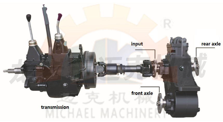 4x4/6X6 Heavy Duty Truck High&Low Speed Ratio Transfer Gearbox/Gear Box with Parking Drum