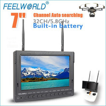 FEELWORLD 7 inch LCD FPV monitor build in battery 32CH 5.8G Rc UAV Drone RTF with hdmi