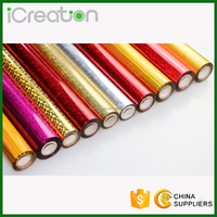 Various Colors Laser Hologram Holographic Hot Stamping Foil Rolls Heat Transfer Foil Aluminium Foil for Textile/Fabrics Used