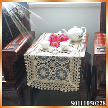 Polyester lace rectangle table runners for weddings