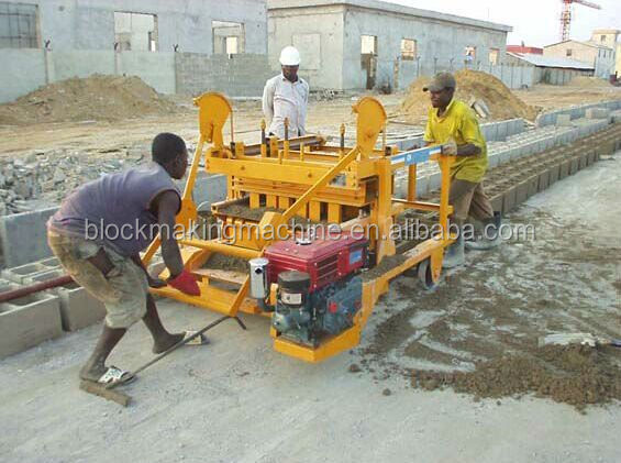 QMY4-45 mobile widly used concrete hollow block making machine for sale in USA