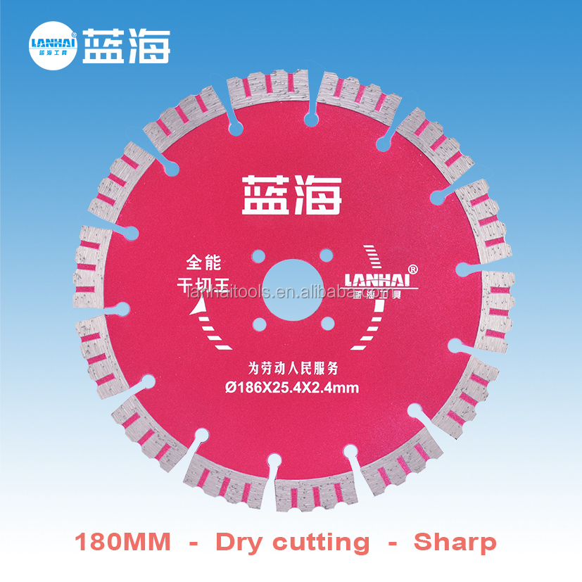 China Manufacturer 180mm Diamond Circular Saw Blade for Granite Marble General Stone Concrete