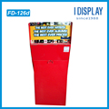 Red Recycled Offset Paper Cardboard Counter Display Stands for Card