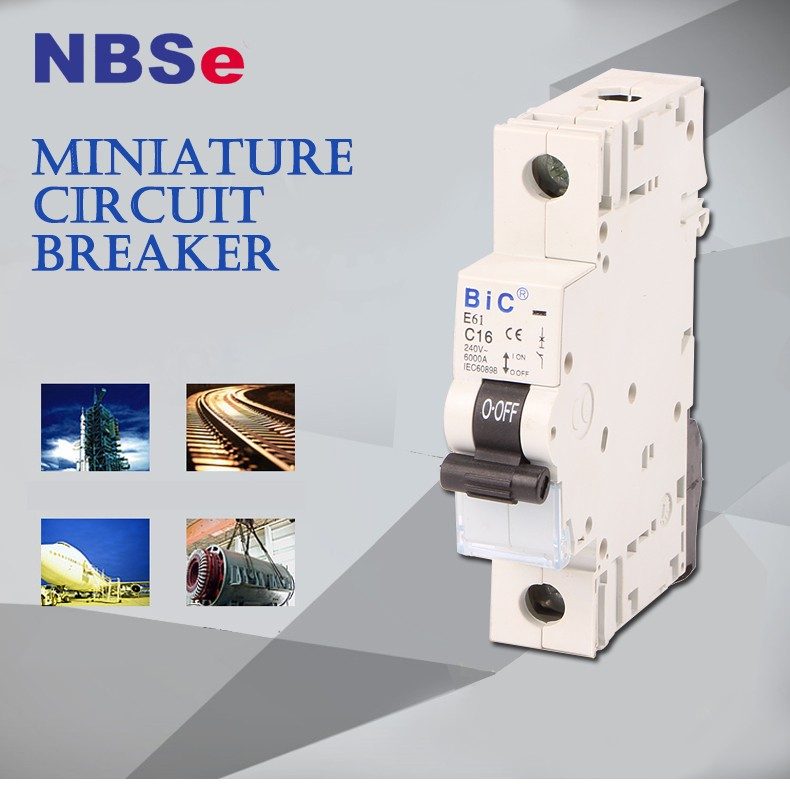 NBSe 10KA L7 1P to 4P mini circuit breaker 6-63A