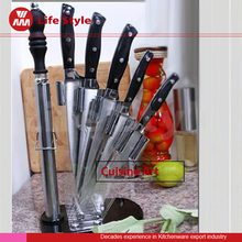 Morden Style High quality Unique 6pcs kitchen knife with Acrylic stand