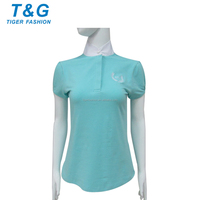 Plain color top selling women polo shirts for sport
